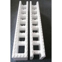 Polystyrenové tvárnice 25 cm - průchozí